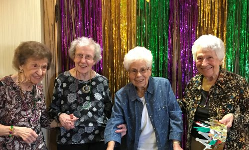Good Times at the Mardi Gras Party.