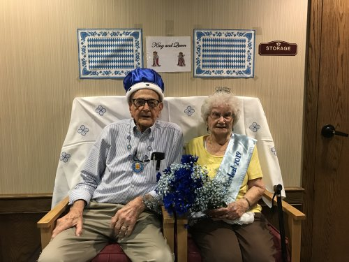 Crowning of our King and Queen of this years Oktober Fest. Mr & Mrs. Linder