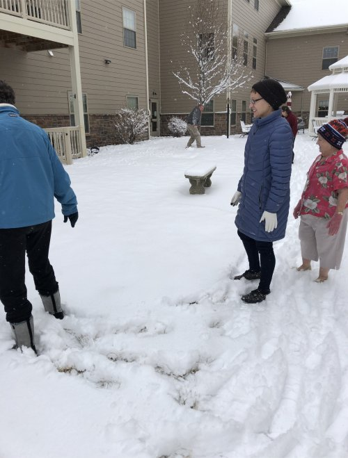 Thank you Candace for making us all look beautiful, and Karen, so brave in the snow with no socks!