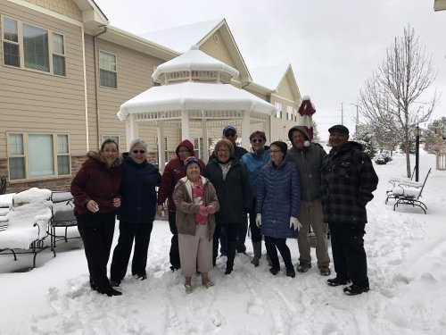 Staff and Residence love their time in the snow!