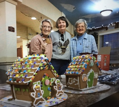 Gingerbread houses was a fun challenge