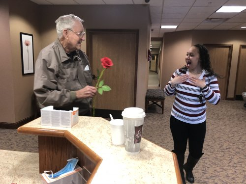 Jack gave Janet a rose this morning! Happy valentines Day!