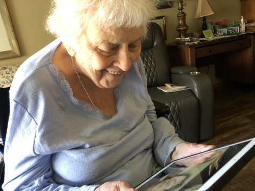 Dee is learning about new technology as she experiences FaceTime for the first time visiting with family!