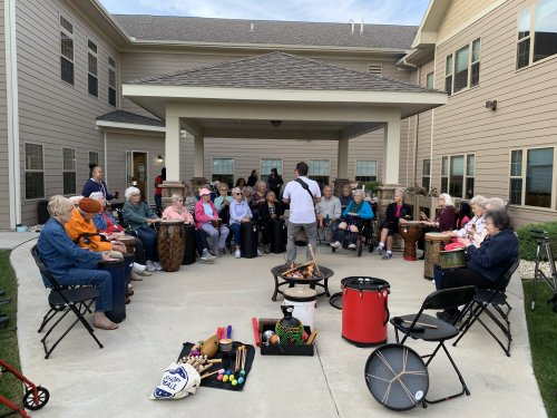 Our Summer Night Outing! Drumming artist for entertainment and hot roasted S'mores and more! What a great way to end the summer with fun and laughter!