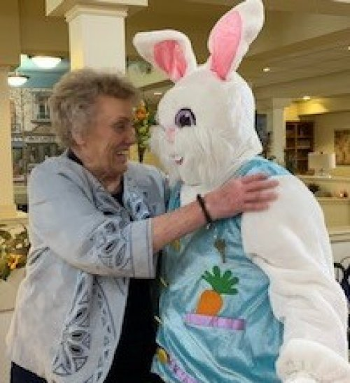 Hugs are the best thing to get from the Easter Bunny!