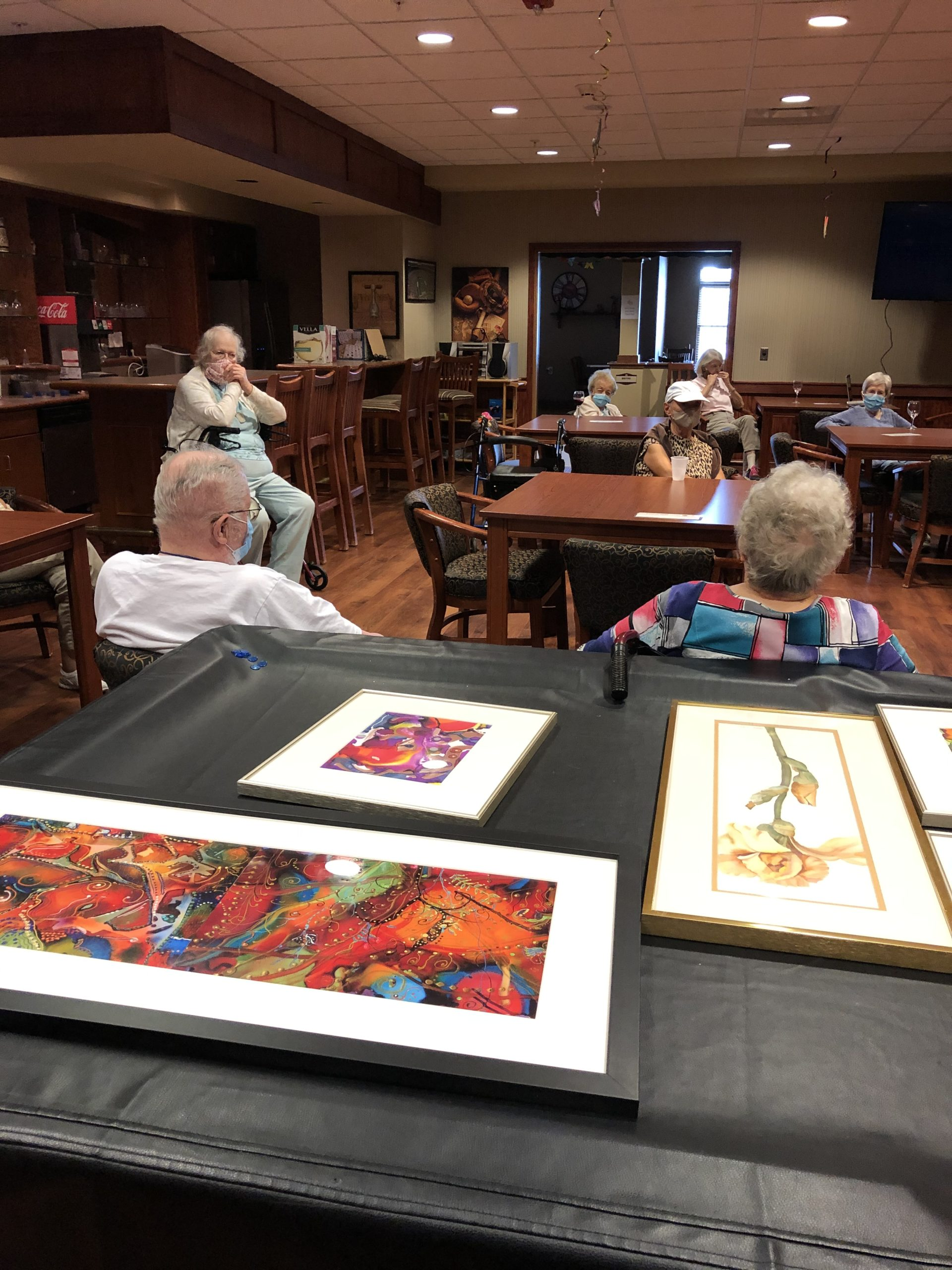 Local Artist and Resident Mary showcases her artwork