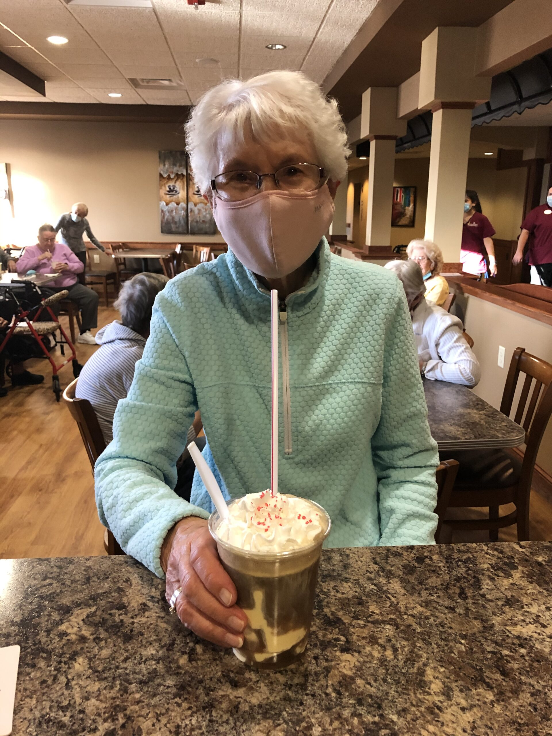 Mary D enjoying a Root Beer Float at