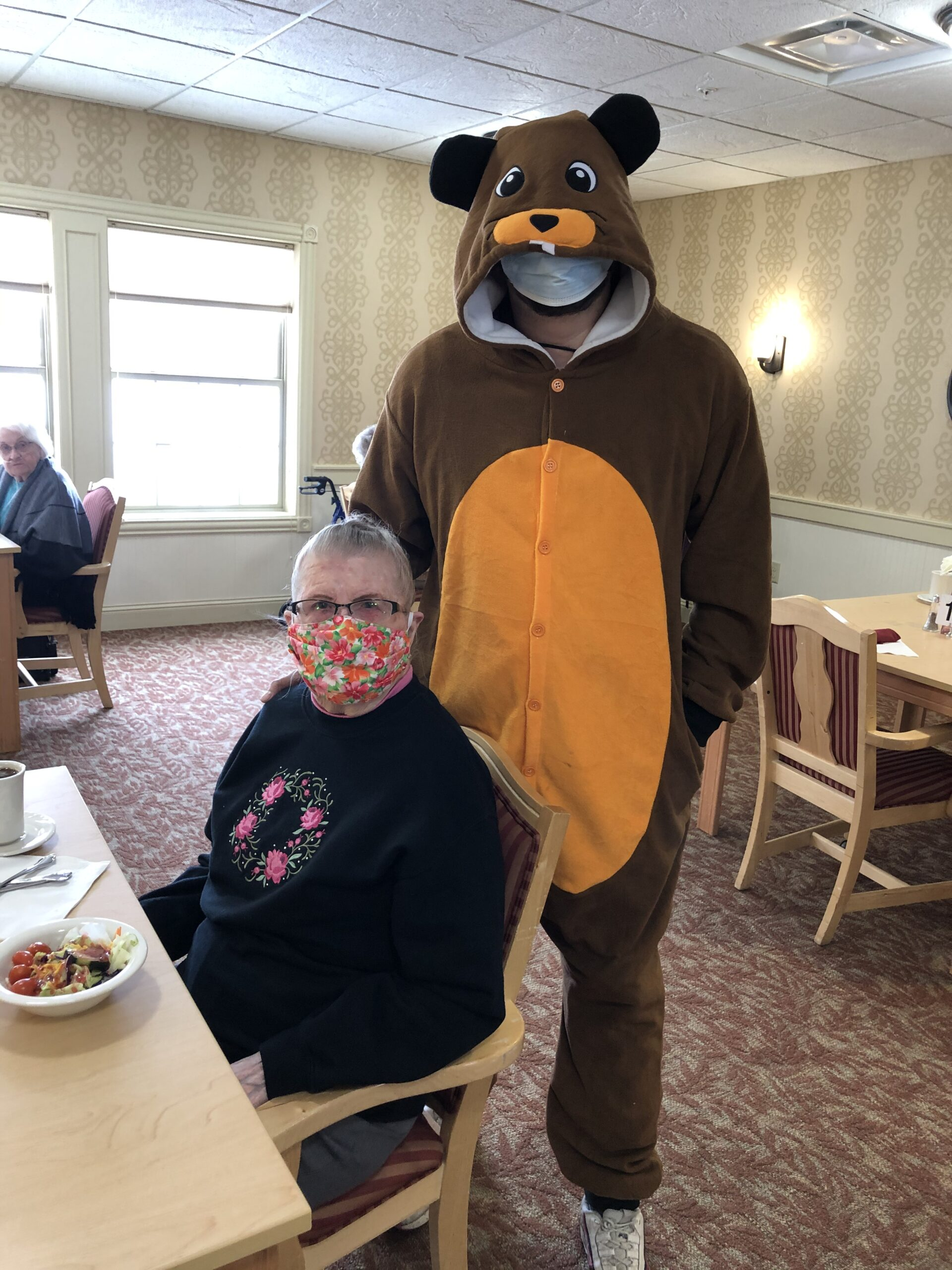 The Groundhog made an appearance at our community!