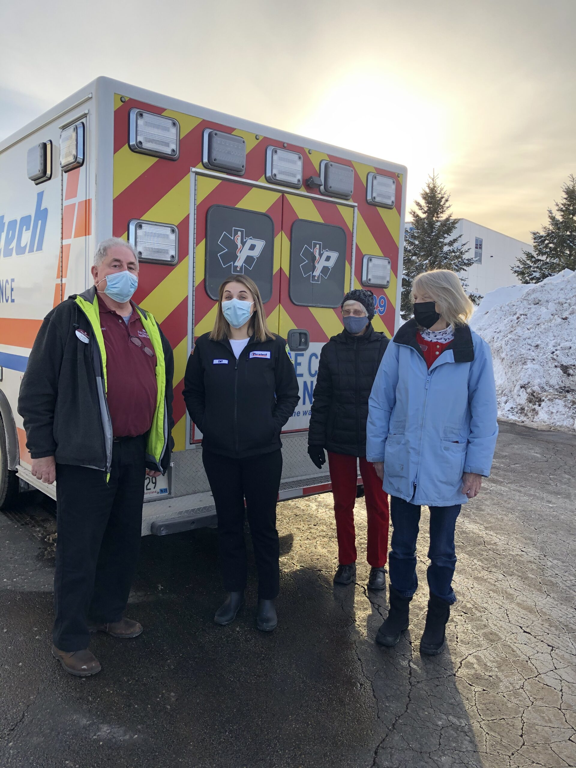 Our Primrose family surprises a EMT Superhero with a gift card from a local Restaurant