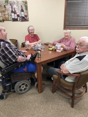 Some of our residents enjoying fruit bingo!