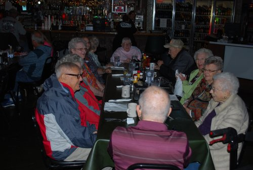 Our residents enjoying lunch before returning home.