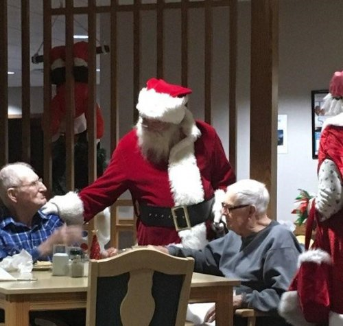 Santa made a quick stop to visit with our residents.