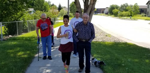 Team Primrose walk