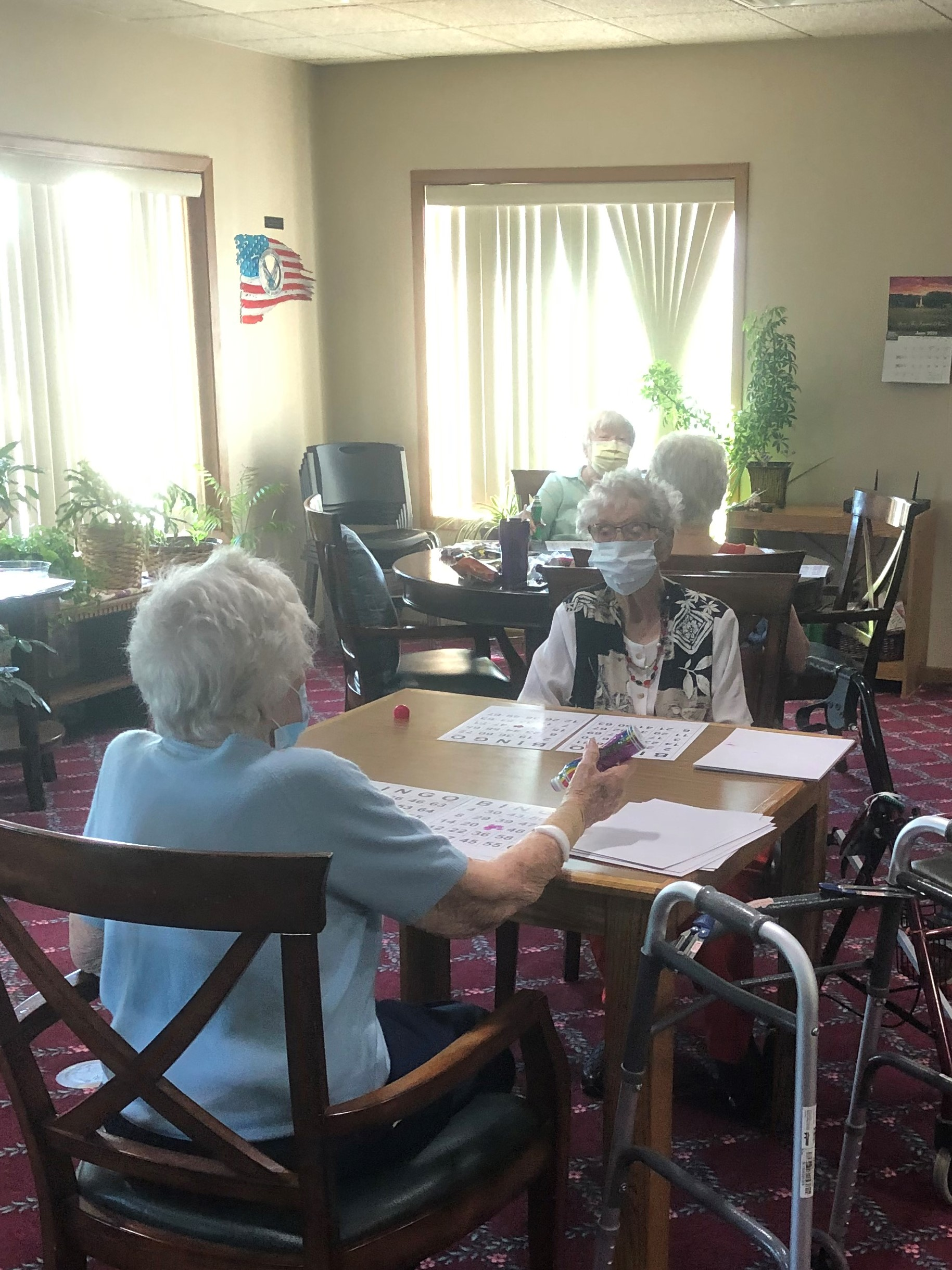 Residents have enjoyed getting together for Bingo!