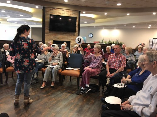 Residents got to bid their Primrose bucks and coins on donated goodies from community businesses at the Primrose Resident Auction! Happy Bidding!