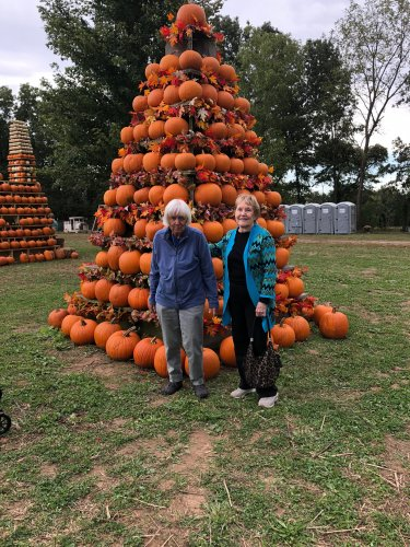 On our Wednesday Activity Outing, residents ventured to the Pea Ridge Pumpkin Patch to ride a hayride, pick out pumpkins and gourds, and to walk through sunflowers and growing Christmas Trees!