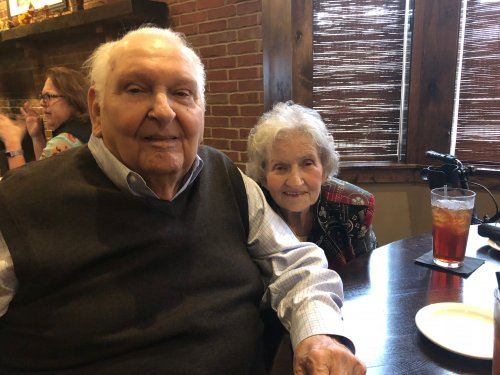 Margaret and Jack shared a delicious lunch of Salmon and French Dip Sandwich at Fred's Hickory Inn on the Wednesday Resident Activity Outing!