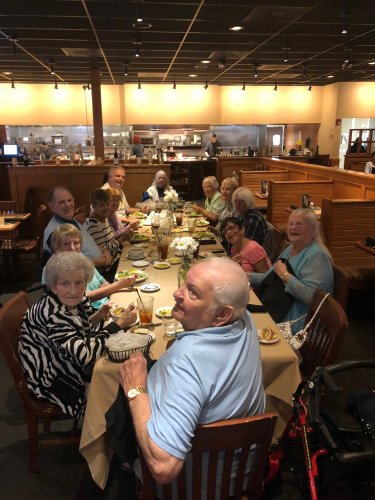 Residents were treated to a free meal on the house by local Italian Restaurant, Carrabbas Italian Grille! Delicious food, fun, and laughs were shared all around!