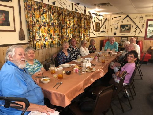Villa Residents went out to dinner for the evening at a local favorite, Monte Ne Chicken for a family-style served dinner!
