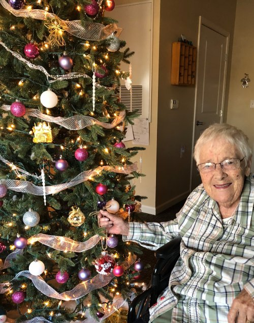 Harriet proudly puts her newly made ornament on her beautiful Christmas tree in her room! She has even made her own doll house and put a Christmas tree in the doll house as well to get ready for the season!