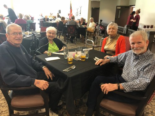 Residents were treated to a VIP Dinner that began with a cocktail hour and a cello performance! Residents dined on Cornish Hen and Baked Salmon served by the Leadership Staff!