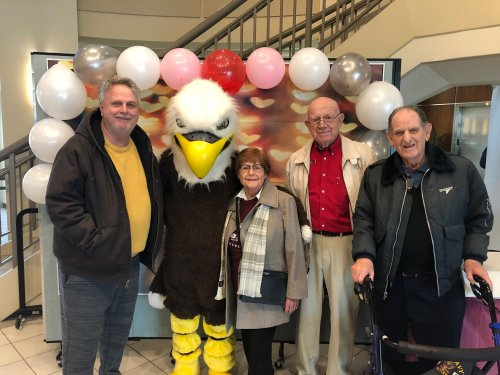 Primrose residents celebrated National Random Act of Kindness Day by heading out giftcards and Valentine's Candy to Northwest Arkansas Community College students in their student union! They spend time getting to know students as they passed through the union and even their mascot!