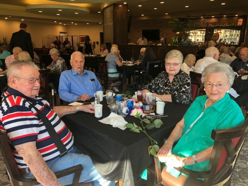 On September 11th, our 2 year anniversary of becoming a community, the Primrose family celebrated with a VIP Dinner of Cornish Hen and Baked Salmon, a cocktail hour, cello performance, and all the ladies were handed roses and hugs by our Sales Leaders son!