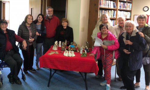 For our Wednesday Activity Outing, residents ventured to the One Bethlehem Night event at the Forest Hills Baptist Church to view over 600 Nativity scenes from all over the world!