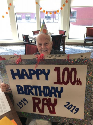 Primrose celebrated their very first resident turning 100! On Nov 4th, Ray turned 100 and was celebrated in patriotic style for his service to our country and for being an all around lovable man!