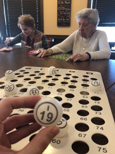 Bingo on a Snowy day, What a way to spend the day!