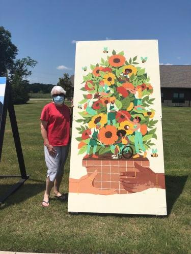 Our Primrose residents were treated to the Crystal Bridges Art Museum's Social Campaign on a sunny afternoon! Residents and staff were able to view local artists paintings of Togetherness and each person received watercolor kits and copies of the paintings to take home!