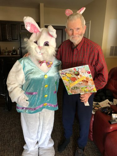 Residents were visited by the Easter Bunny and decided to put on a pair of Bunny Ears and get in the spirit as well!