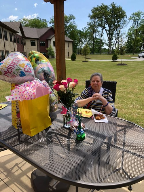 Zetta's family showered her with gifts on a beautiful sunny Mother's Day!