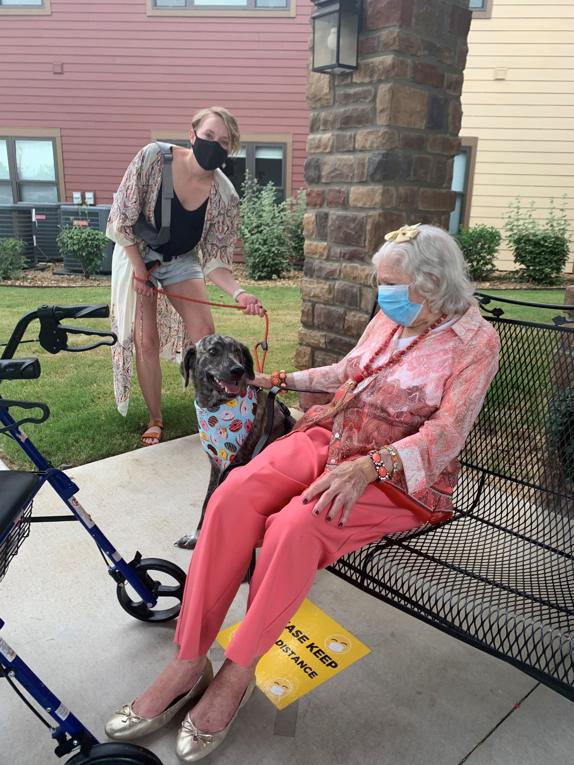 On National Dog Day residents were visited by 11 furry friends through-out the day and were treated to a buffet of dog themed snacks such as Pup-eroni Pizza, Corn Dogs, Maltese Milkshakes, Puppy Chow and Barkin' Bites!