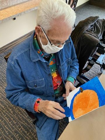 Fall Pumpkin Painting to Kick off the Fall Season! Lyle was very precise with his painting.