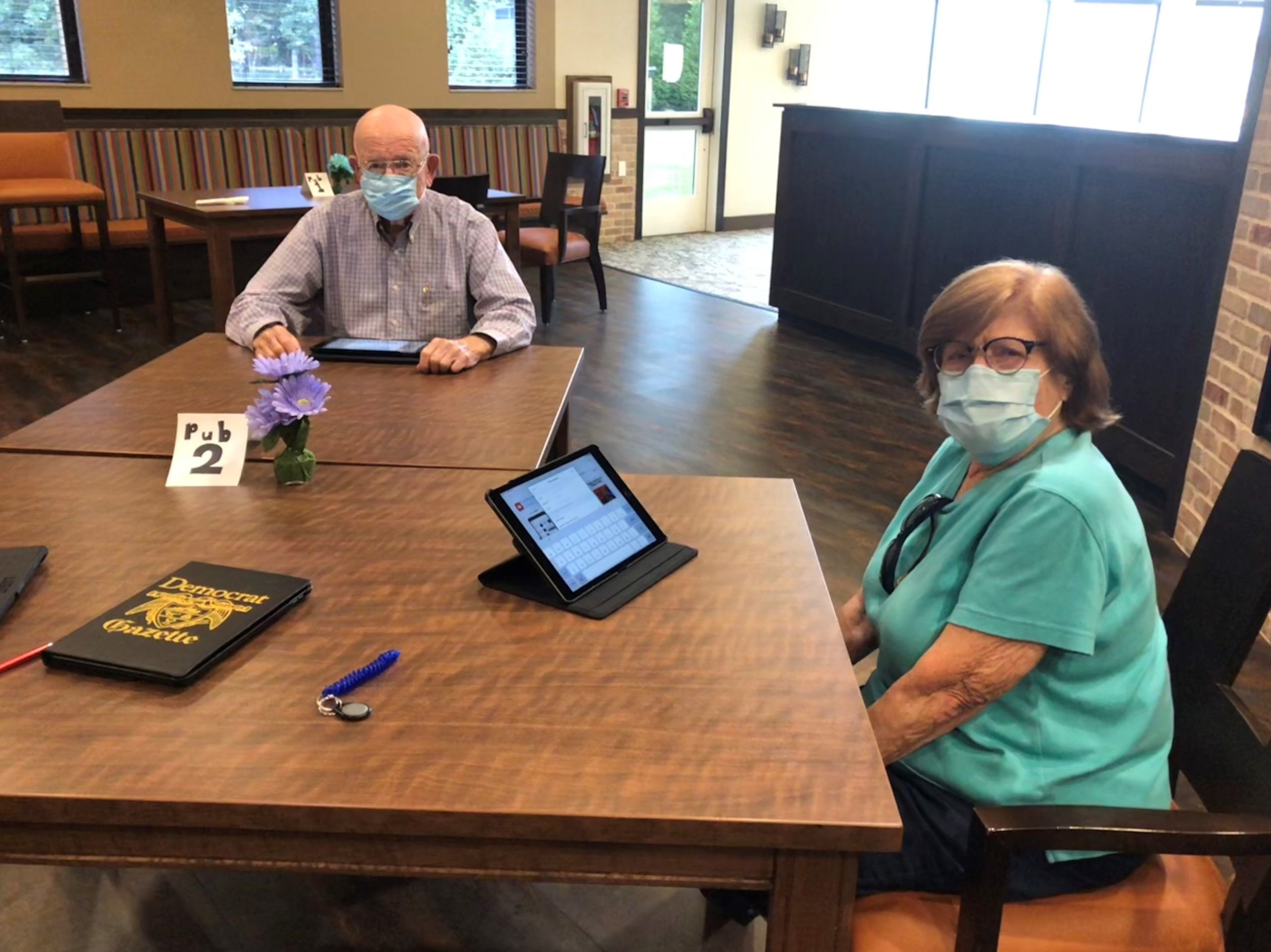 Beginning in September, residents met once a week with LEC, Lindsay to learn the basics of working their IPADS and electronic devices. They will be tech savvy and smart seniors before they know it!