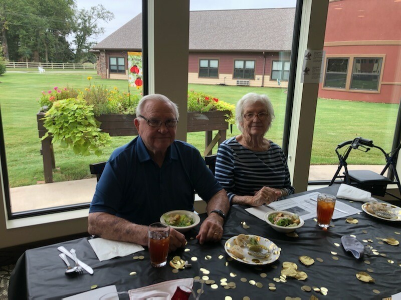 3 Year Primrose Anniversary VIP Lunch- Residents and Staff celebrated our three year anniversary by enjoying a delicious meal of Salmon, Cornish Hen, and Pumpkin Mousse Pastries. Residents dressed their best and were greeted by elegant music, roses, and the leadership staff as their servers!