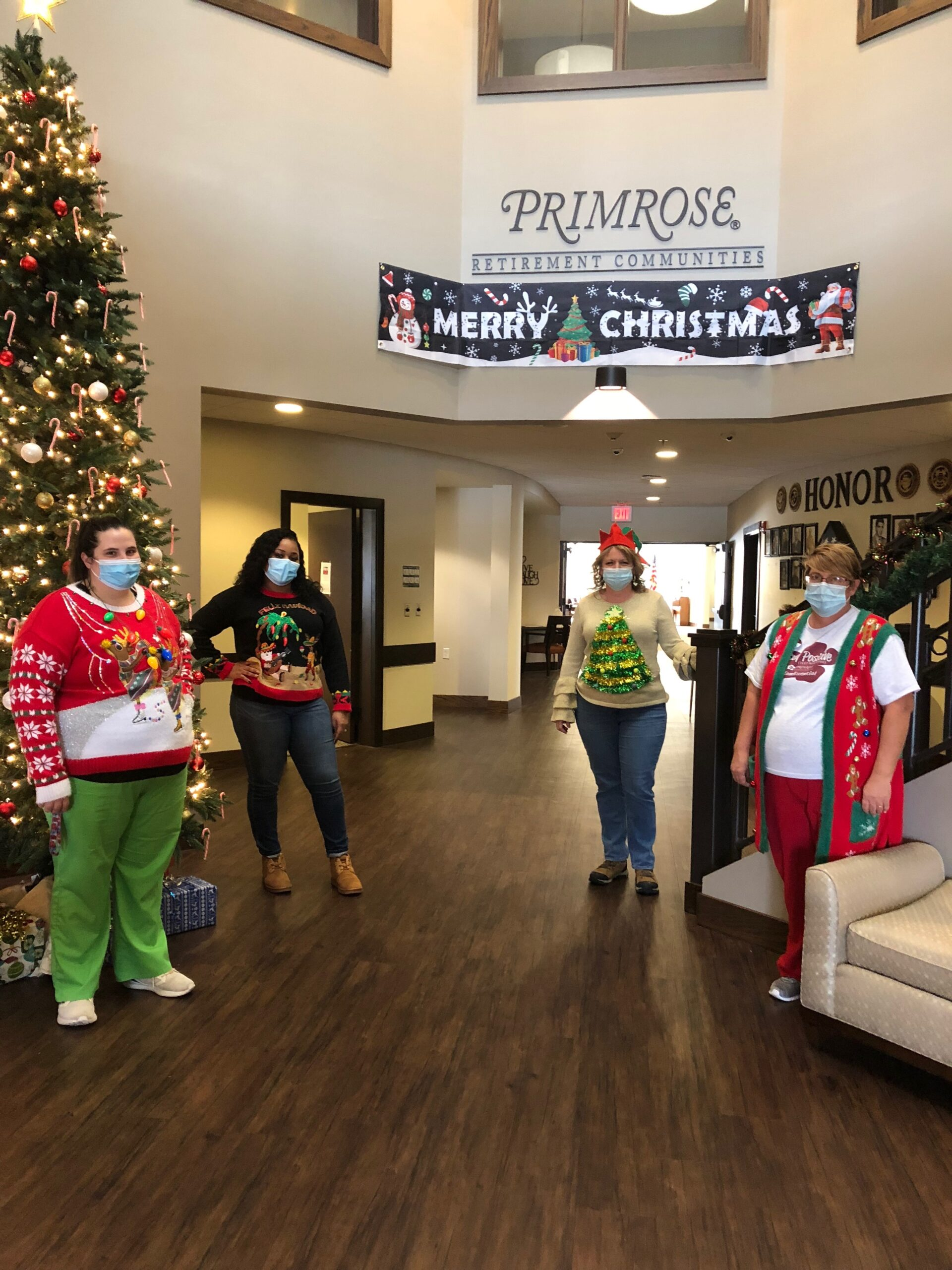 Christmas Spirit Week- Residents and Staff wore different festive sweaters and accessories during the week of Christmas to keep the season fun and festive!