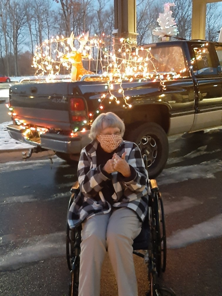 Primrose Candy Cane Lane Parade- Residents were treated to a parade of Christmas displays, trees, holiday signs, and Santa Clauses on Motorcycles that were put around the Primrose grounds by local businesses. Everyone voted on their favorites and enjoys cocoa and cookies as well!