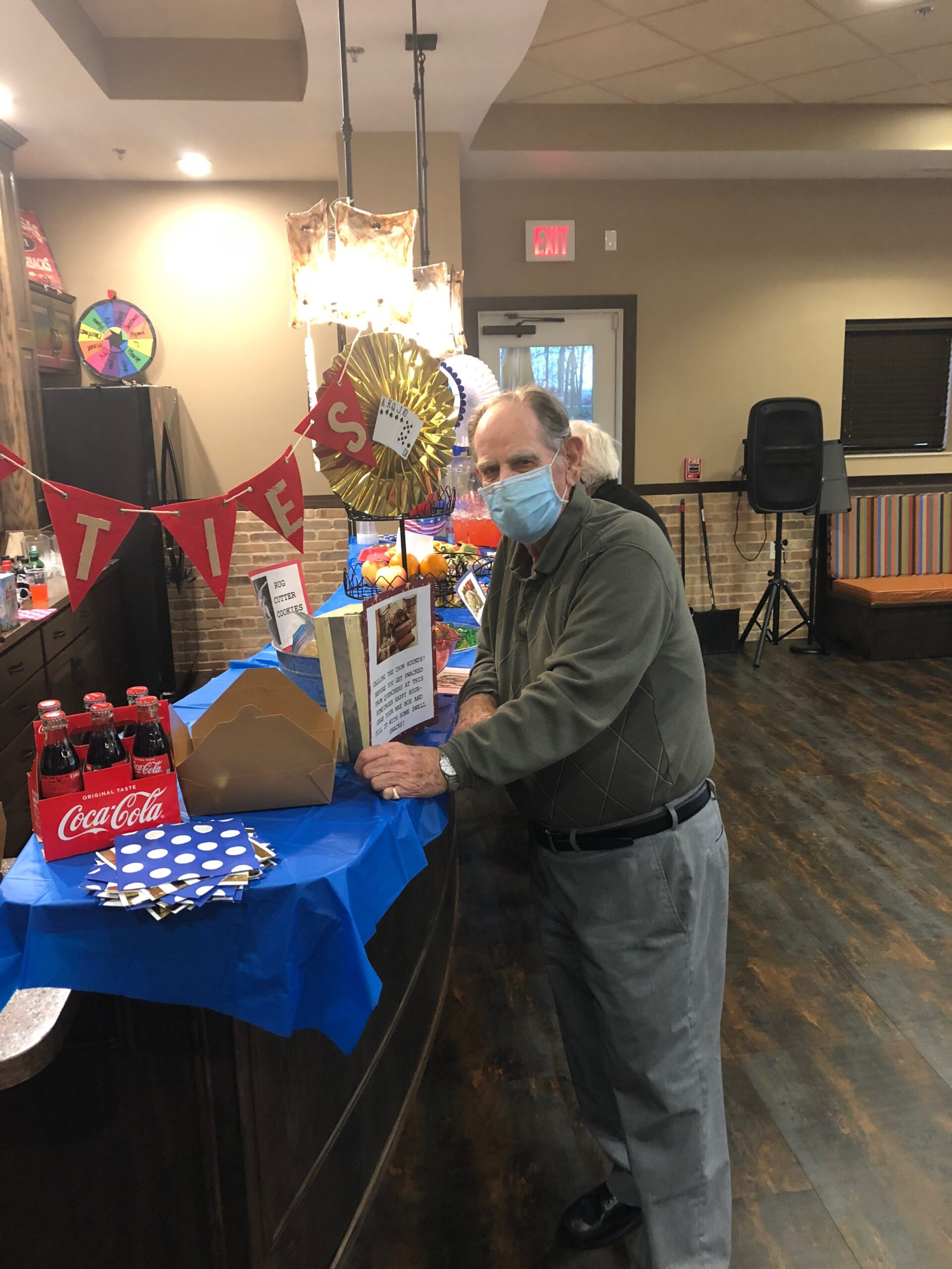 1940s Themed Happy Hour- On Thursday residents enjoyed a 1940s themed Happy Hour with Reminiscing Posters, Swing Band Music, and they each got to fill up their Military MRE boxes with themed snacks and 1940s sweets!
