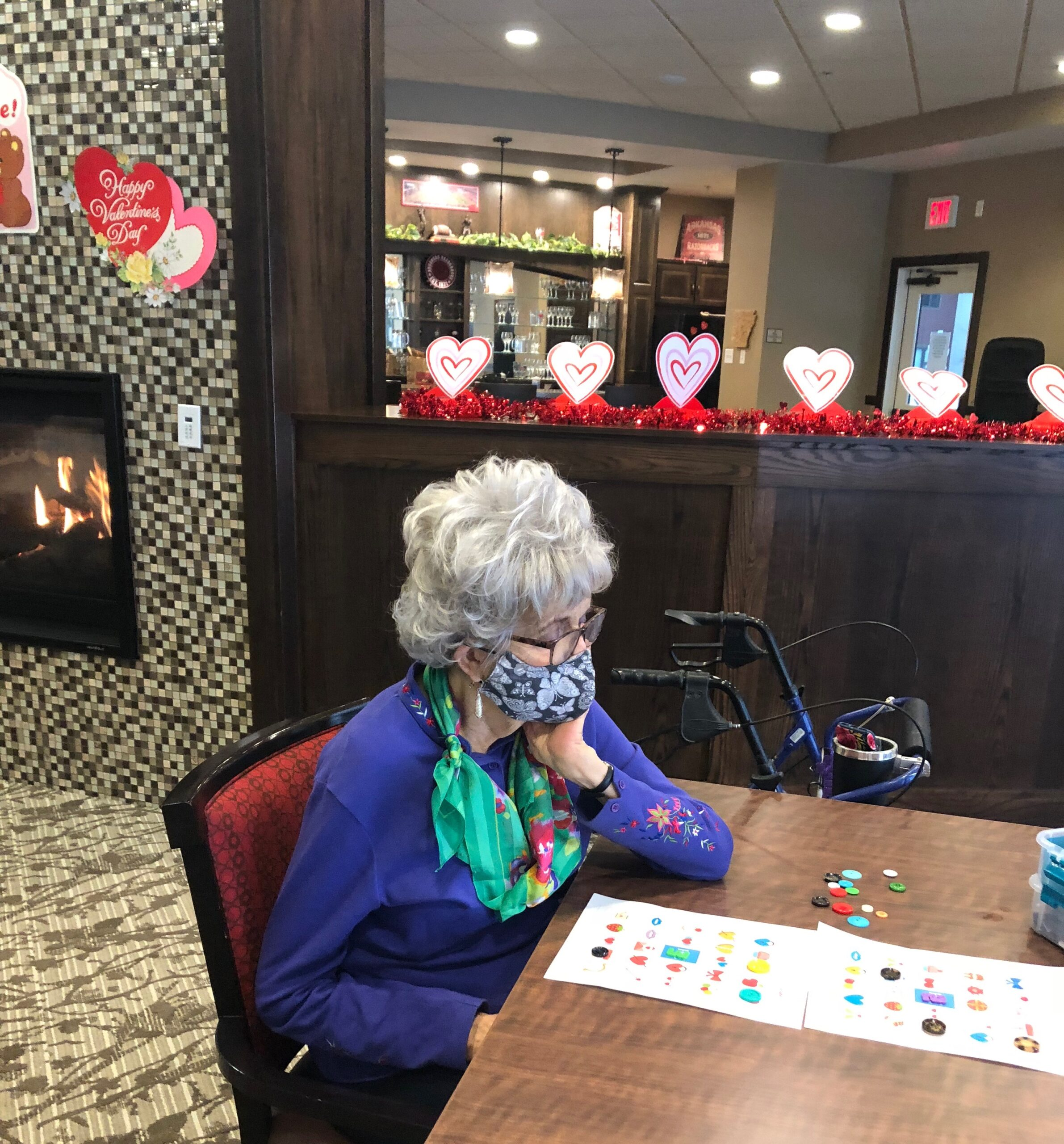 Valentines Day BINGO- Following the resident VIP Valentines Luncheon residents gathered together to play a fun game of Valentines BINGO to win some Primrose Bucks!