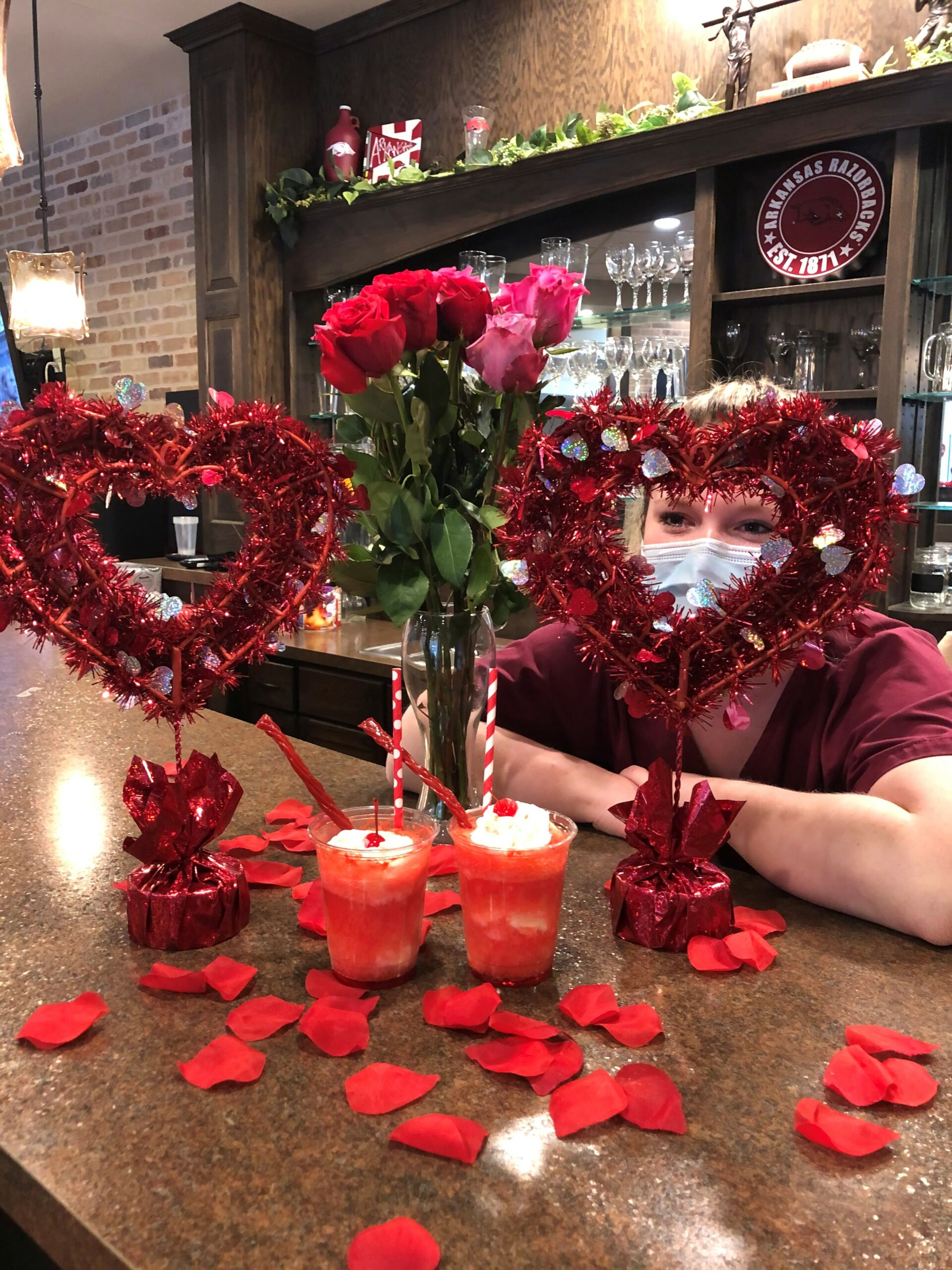 Valentines Day VIP Lunch- Our lovely Primrose CNAS handed out Sweetheart Shakes, Roses, and Homemade Valentines they made to our Primrose residents on Valentines Day!
