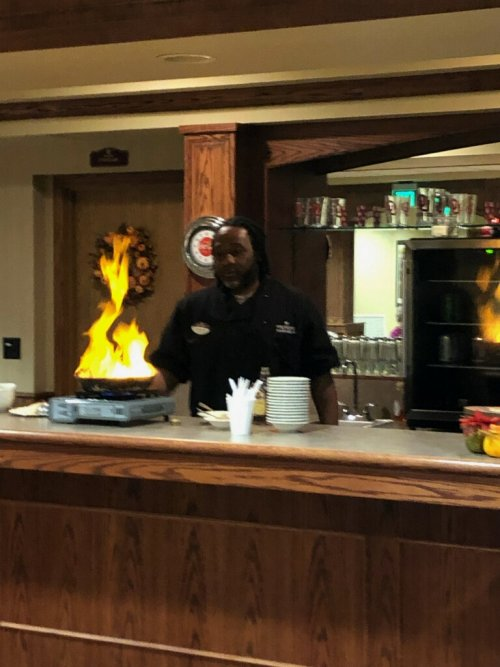 Bananas Foster for the residents!