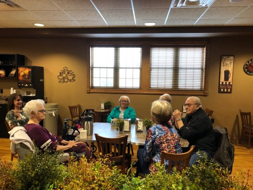 Residents attending News & Coffee