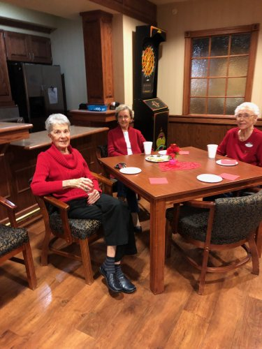 Cathy, Lamona and Doris wearing Red for National Wear Red Day!