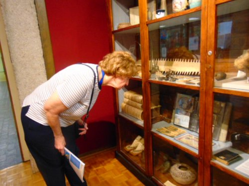 Browsing through the variety of artifacts.
