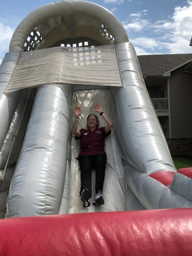 Even our nursing staff had fun at our community block party!