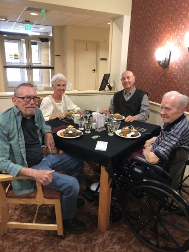 Thurman, Beverly, Tommy and Bill enjoying Fine Dining Night!