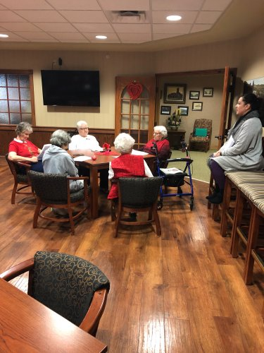 Ladies learning about Heart Health
