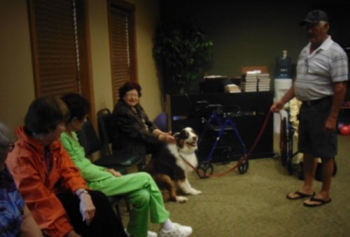 Beau and Friends visit: Residents really enjoy Beau.